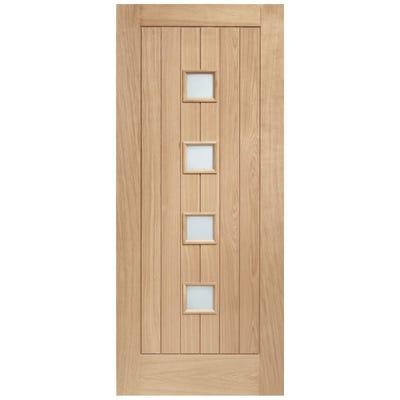 XL Joinery External Oak Siena 4L Obscure Glazed Door