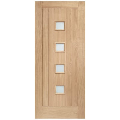XL Joinery External Oak Siena 4L Obscure Glazed Door