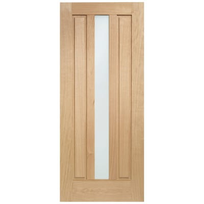 XL Joinery External Oak Padova M&T 1L Obscure Glazed Door 1981 x 838 x 44mm