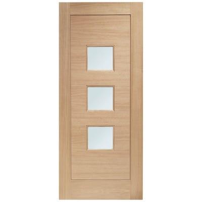 XL Joinery External Oak Turin 3L Obscure Glazed Door