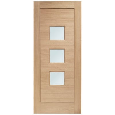 XL Joinery External Oak Turin 3L Obscure Glazed Door