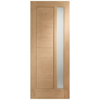 XL Joinery External Oak Modena 1L Obscure Glazed Door