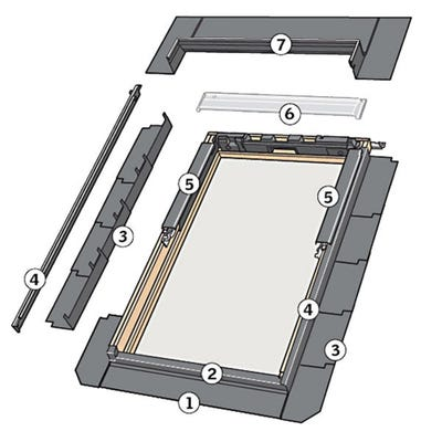 Velux EDL Slate Flashing