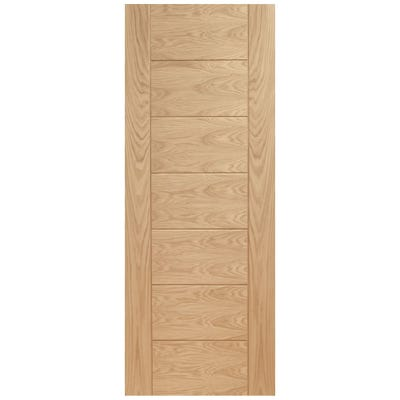 XL Joinery Internal Oak Palermo 7 Panel FD30 Fire Door