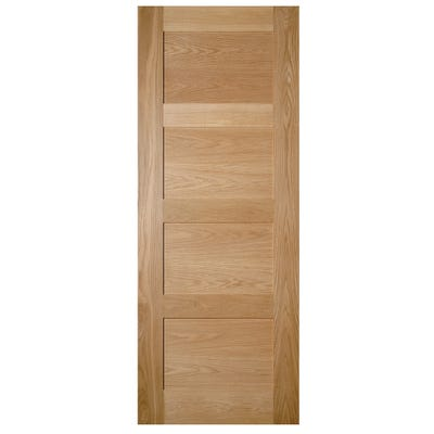 Deanta Internal Oak Coventry 4 Panel FD30 Fire Door