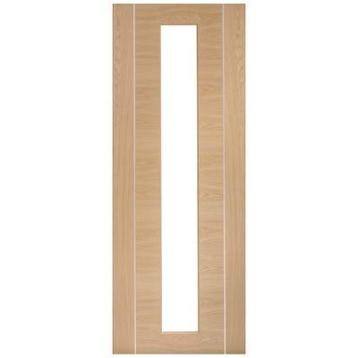 XL Joinery Internal Oak Forli Prefinished 1L Clear Glazed Door