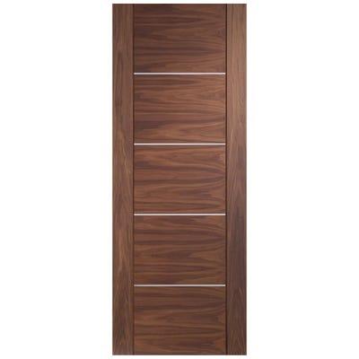 XL Joinery Internal Walnut Portici 5 Panel Prefinished Door