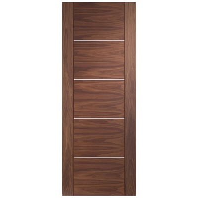XL Joinery Internal Walnut Portici 5 Panel Prefinished FD30 Fire Door