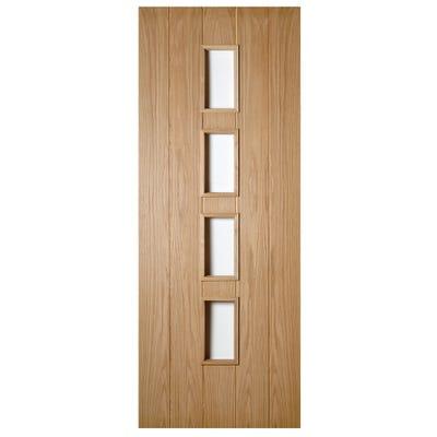 Deanta Internal Oak Galway 4L Unglazed FD30 Fire Door