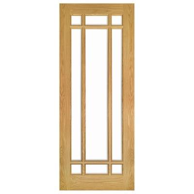 Deanta Internal Oak Kerry 9L Clear Glazed Door 1981 x 610 x 35mm