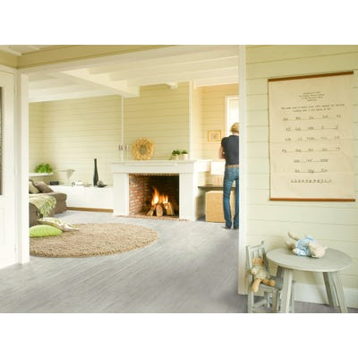 Quick Step Perspective UF1235 White Brushed Pine Laminate Flooring
