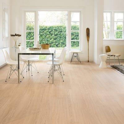 Quick Step Eligna Wide UW1538 Oak White Oiled Laminate Flooring