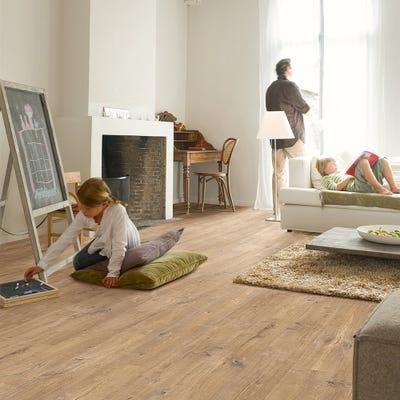 Quick Step Eligna Wide UW1548 Oak Saw Cuts Nature Laminate Flooring