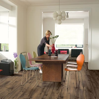 Quick Step Eligna Wide UW1544 Reclaimed Chestnut Brown Laminate Flooring