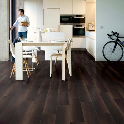 Quick Step Perspective Wide ULW1540 Fumed Oak Dark Laminate Flooring