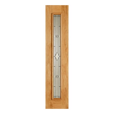 LPD External Oak Universal Leaded Double Glazed Sidelight 2058 x 457 x 44mm