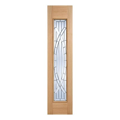 LPD External Oak Majestic Leaded Double Glazed Sidelight 2058 x 457 x 44mm