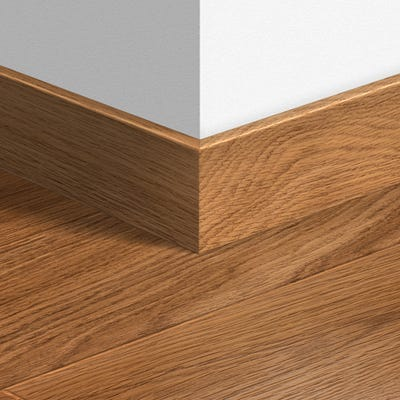 Quick Step Dark Varnished Oak Parquet Skirting 14 x 77 x 2400mm Design QS0918