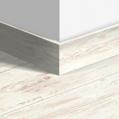Quick Step White Brushed Pine Parquet Skirting 14 x 77 x 2400mm Design QS1235