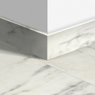 Quick Step Marble Carrara Parquet Skirting 14 x 77 x 2400mm Design QS1400