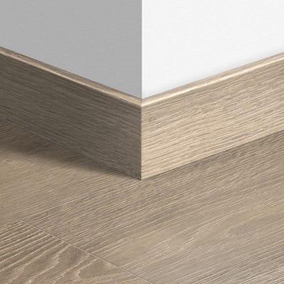 Quick Step White Vintage Oak Parquet Skirting 14 x 77 x 2400mm Design QS1285
