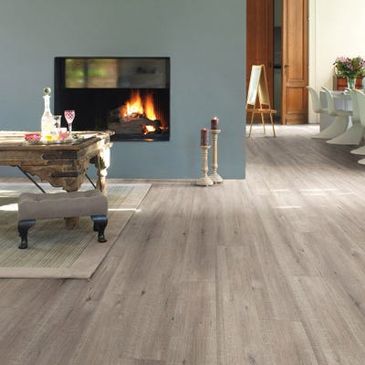 Quick Step Impressive IM1858 Saw Cut Oak Grey Laminate Flooring
