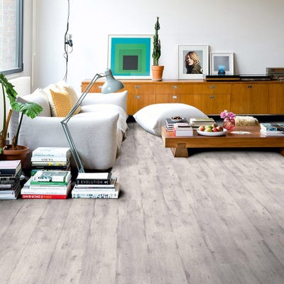 Quick Step Impressive IM1861 Concrete Wood Light Grey Laminate Flooring