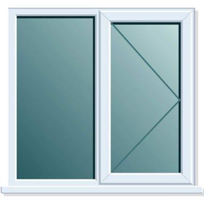 uPVC Window Side+Side Hung RH Open Clear Glass