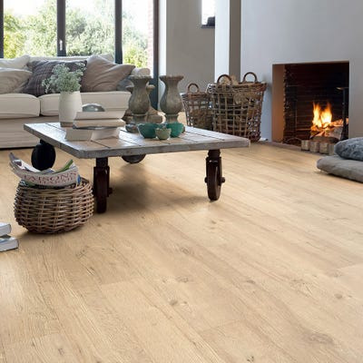 Quick Step Impressive Ultra IMU1853 Sandblasted Oak Natural Laminate Flooring