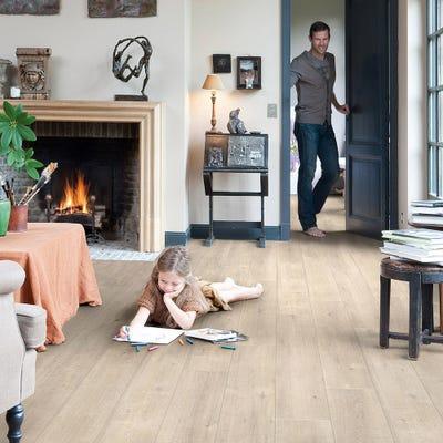 Quick Step Impressive Ultra IMU1857 Saw Cut Oak Beige Laminate Flooring