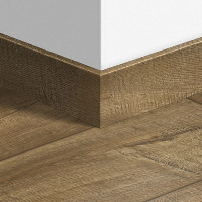 Quick Step Scraped Oak Grey Brown Parquet Skirting 14 x 77 x 2400mm Design QS1850