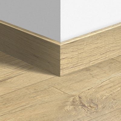 Quick Step Sandblasted Oak Natural Parquet Skirting 14 x 77 x 2400mm Design QS1853