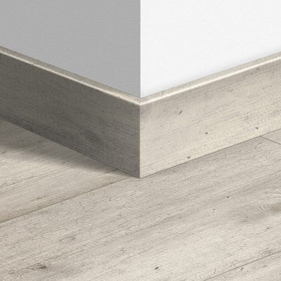 Quick Step Concrete Wood Light Grey Parquet Skirting 14 x 77 x 2400mm Design QS1861