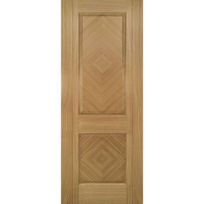 Deanta Internal Oak Kensington Prefinished 2 Panel Door 1981 x 610 x 35mm
