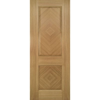 Deanta Internal Oak Kensington Prefinished 2 Panel FD30 Fire Door 1981 x 610 x 44mm