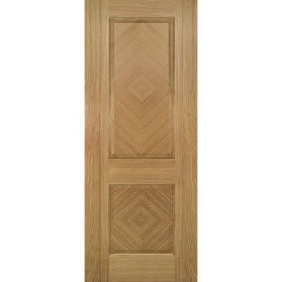 Deanta Internal Oak Kensington Prefinished 2 Panel FD30 Fire Door