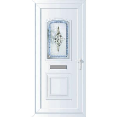 External uPVC Front Door Obscure Glazed Left Hand Opening 2085 x 920 x 44mm