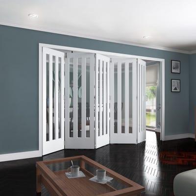 Jeld-Wen Internal White Primed Aston 3L Clear Glazed 5 Door Roomfold 2047 x 3538 x 92mm