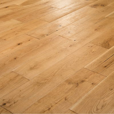 18 x 150mm Natural Oak Satin Lacquered T&G Engineered Wood Flooring