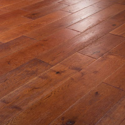 18 x 150mm Cognac Oak Lacquered T&G Engineered Wood Flooring