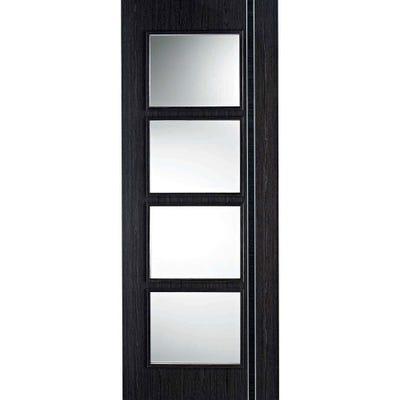 LPD Internal Ash Grey Prefinished Zanzibar 4L Clear Glazed Door