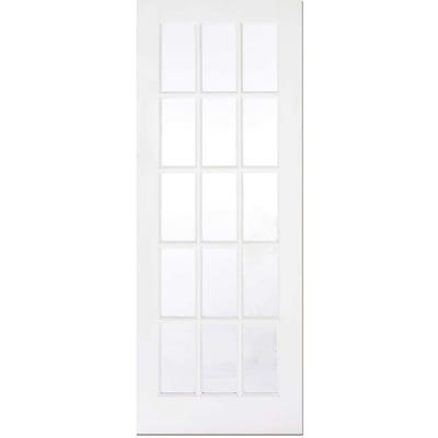 LPD Internal White Primed SA77 15L Clear Glazed Door