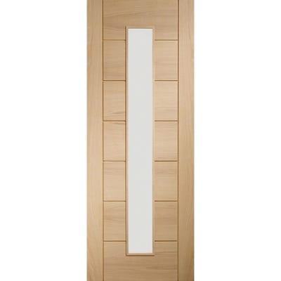 XL Joinery Internal Oak Palermo 1L Clear Glazed FD30 Fire Door