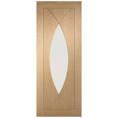 XL Joinery Internal Oak Pesaro 1L Clear Glazed FD30 Fire Door