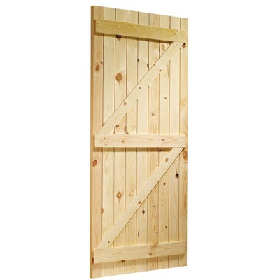 XL Joinery External Ledged and Braced Pine Door 1981 x 762 x 35mm