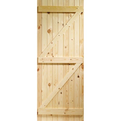 XL Joinery External Ledged and Braced Pine Door 1981 x 838 x 35mm