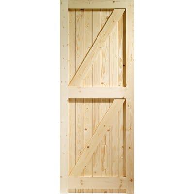 XL Joinery External Framed Ledged & Braced Pine Door 1981 x 762 x 44mm
