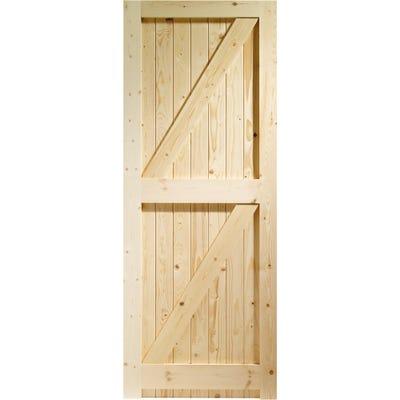 XL Joinery External Framed Ledged & Braced Pine Door 1981 x 838 x 44mm