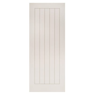 Deanta Internal White Primed Ely 5 Panel Door