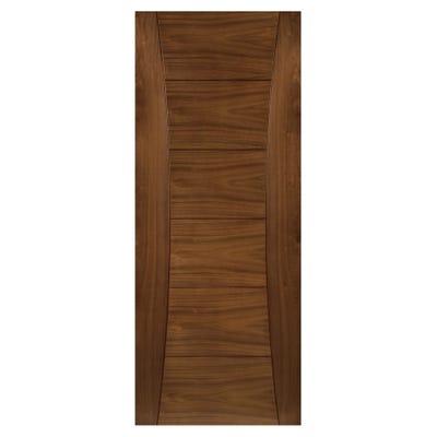 Deanta Internal Walnut Pamplona 6 Panel Prefinished Door